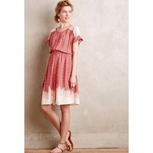 Anthropologie Maeve Printed Shirtdress Size Small